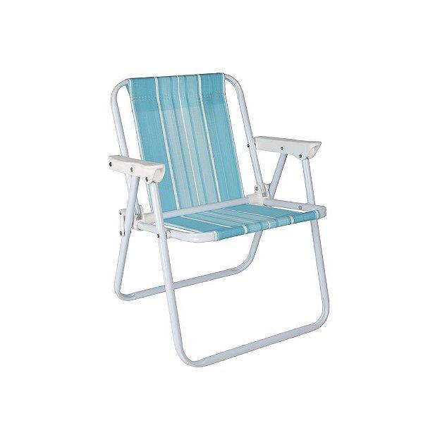 Cadeira Infantil Aço Praia Camping Listrada - Mor - Azul