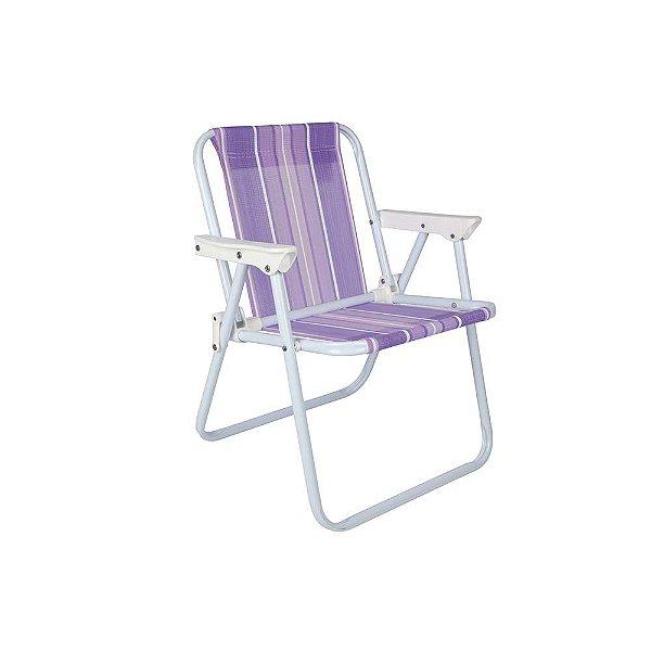 Cadeira Infantil Aço Praia Camping Listrada - Mor - Lilás
