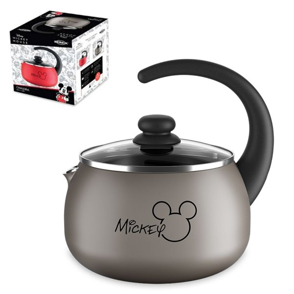 Chaleira Mickey Alumínio 2L Chá Café Com Tampa de Vidro térmica Cozinha - 7223/155 Brinox - Prata
