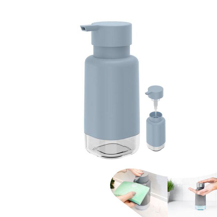 Dispenser Porta Detergente Líquido 500ml Pia Cozinha Trium - DP 500 Ou - Azul Glacial