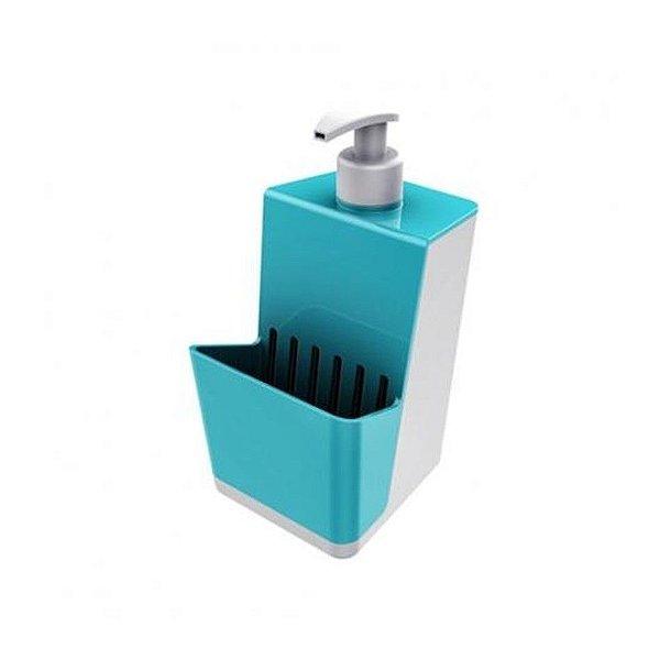 Dispensador Para Detergente Líquido Dispenser Branco - Crippa - Azul Turquesa