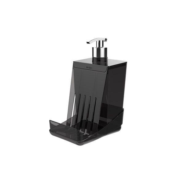 Dispensador para Detergente líquido Dispenser Esponja Smart S - Crippa - Cinza