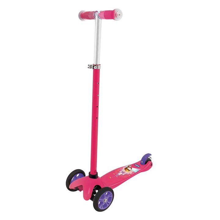 Patinete 3 Rodas Gel Freio Até 50 Kg Infantil Rosa Azul - Mor - Rosa