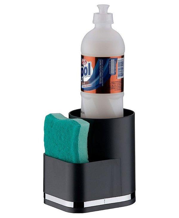 Organizador de Pia Porta Detergente e Esponja Eleganza - 1253 Future - Preto