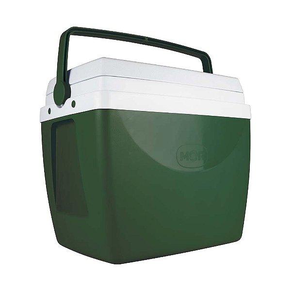 Caixa Térmica Cooler 34 L Com Alça Porta Copos Bebidas Alimentos - Mor - Verde escuro