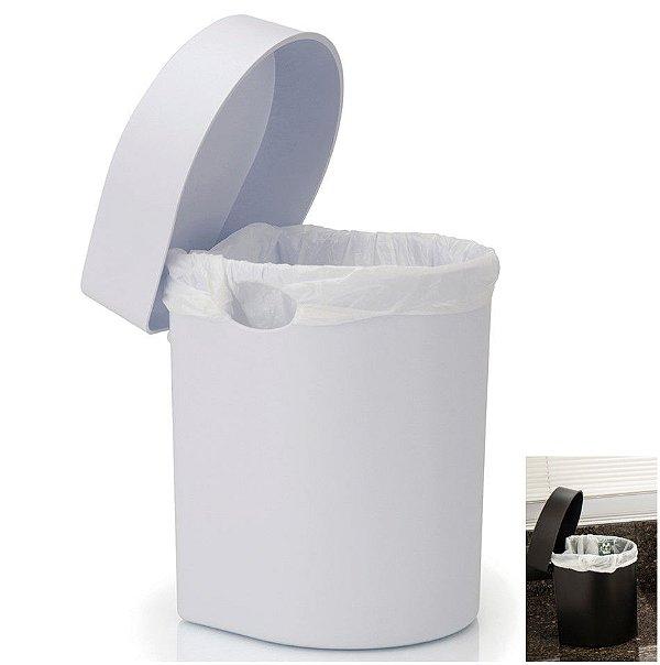 Lixeira 3,5 Litros Hide De Pia Cozinha Banheiro - LX 710 Ou - Branco
