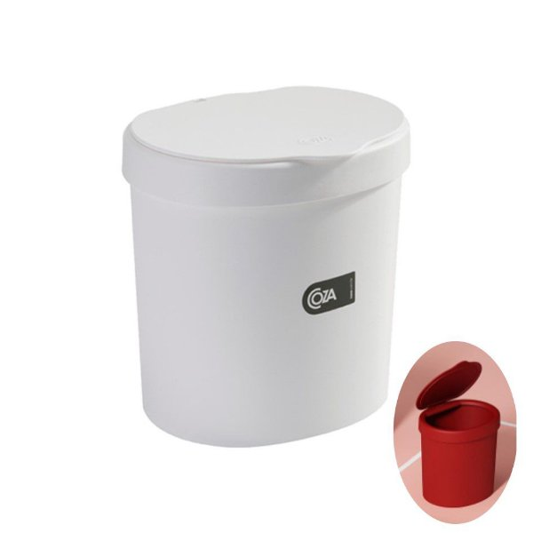 Lixeira 2,5 Litros Plástica Cesto De Lixo Pia Bancada Cozinha Basic - 10906 Coza - Branco