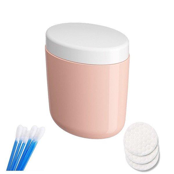 Porta Algodão Cotonete Organizador Acessório Banheiro - 10449 Coza - Rosa