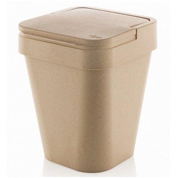 Lixeira Izzy 5 Litros Eco Cesto De Lixo Cozinha Banheiro - LX 820 Ou - Marfim