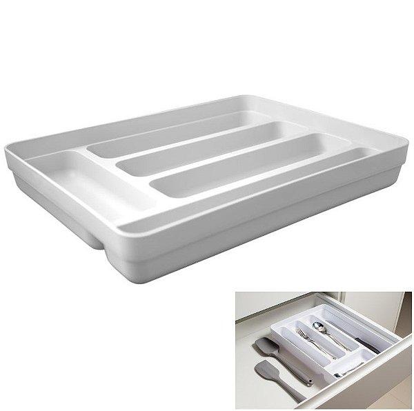 Organizador De Gavetas Divisor Porta Talheres Multiuso Cozinha Logic - OL 600 Ou - Branco