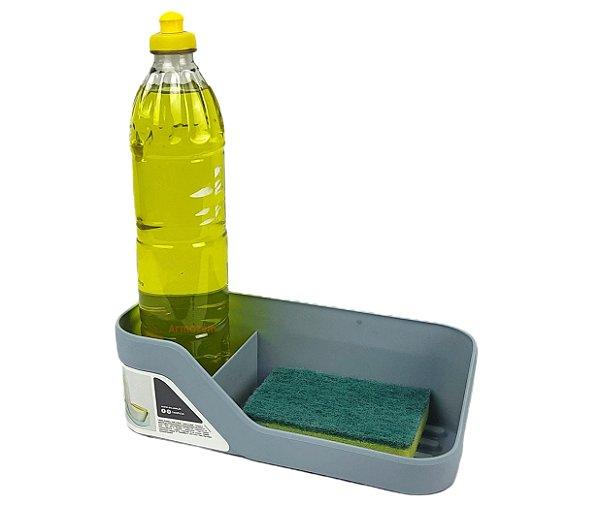 Organizador De Pia Porta Detergente Esponja Cozinha Trium - OP 500 Ou - Azul Glacial