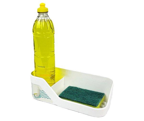 Organizador De Pia Porta Detergente Esponja Cozinha Trium - OP 500 Ou - Branco