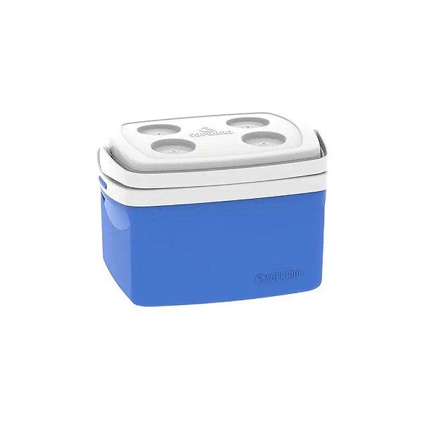 Caixa Térmica Cooler Tropical 12 Litros Bebidas e Alimentos- Soprano - Azul