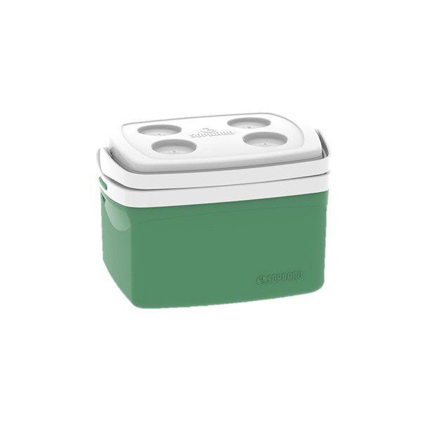 Caixa Térmica Cooler Tropical 12 Litros Bebidas e Alimentos- Soprano - Verde