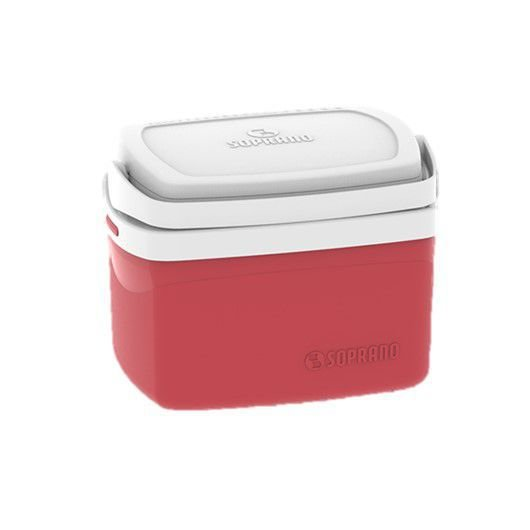 Caixa Térmica Cooler Tropical 5 Litros Bebidas e Alimentos - Soprano - Vermelho