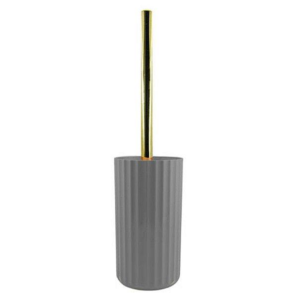 Suporte Porta Escova Sanitária Vaso Privada Banheiro Lavabo Groove Dourado - SS 725 Ou - Chumbo