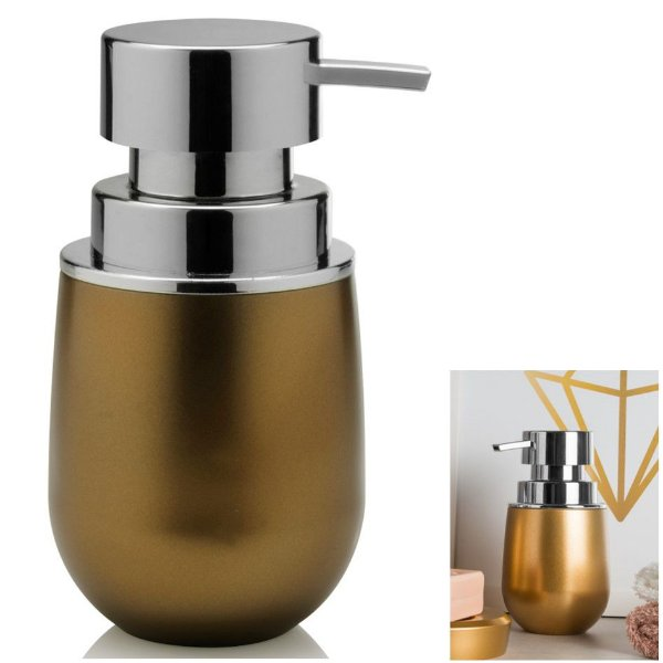 Suporte Porta Sabonete Liquido Dispenser Banheiro Pia Belly Vintage - PSB 825 Ou - Dourado
