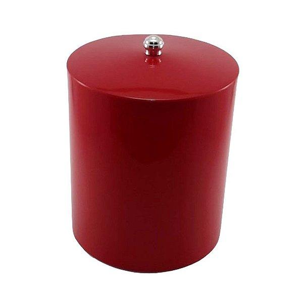 Lixeira 5 Litros Plástico Com Tampa Várias Cores Cozinha Banheiro - RDP - Vermelho
