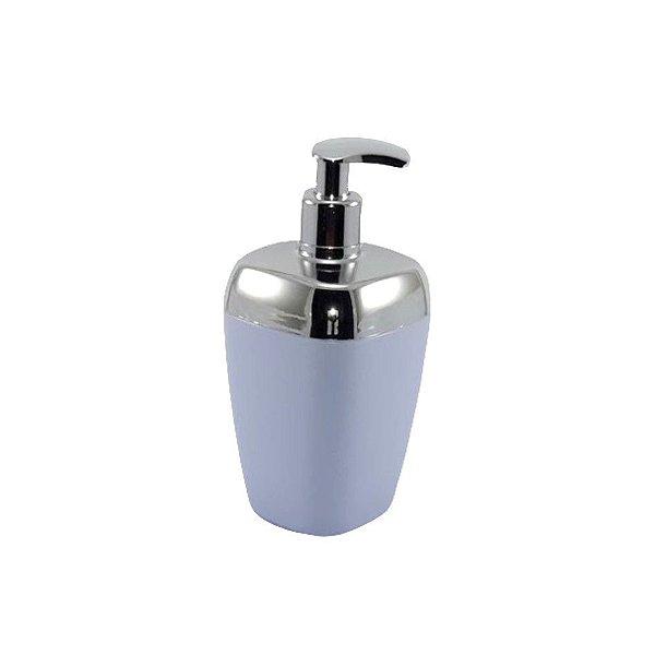 Porta Sabonete Líquido Dispenser Saboneteira Sabão Banheiro Cromado - RDP - Branco
