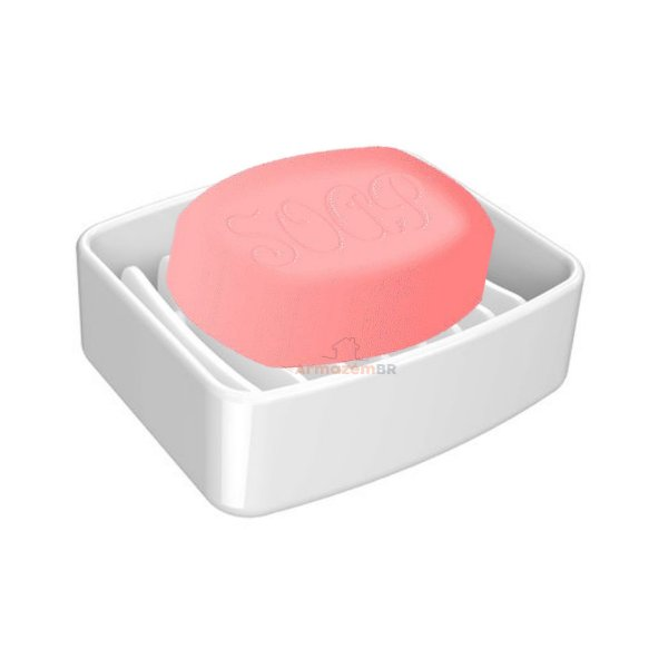 Saboneteira Porta Sabonete Em Barra Acessório Pia Banheiro Splash Branco - 20450 Coza