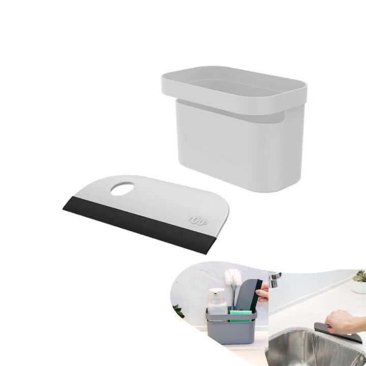 Kit Organizador Pia Porta Detergente Líquido Rodo Compacto Bancada Cozinha -Ou