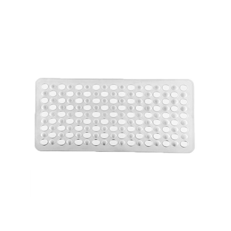 Tapete Box Antiderrapante Banho Chuveiro Ventosa Banheiro 69x37cm - 768 Paramount  - Branco