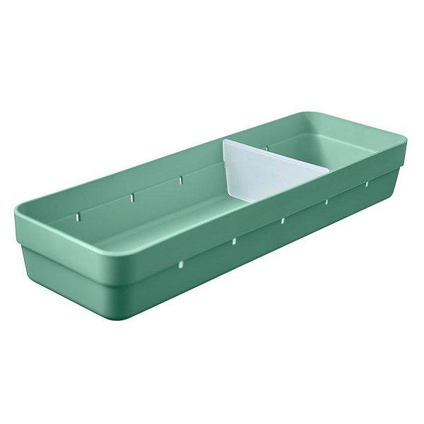 Organizador De Gavetas Plástico Divisor Objetos Talheres Cozinha Quarto - OL 500 Ou - Verde Menta