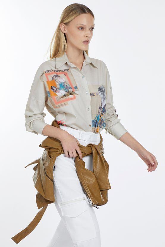 Camisa animale Colagem