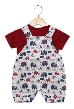 Jardineira Mamute Com Camiseta Bebê Ref. 519