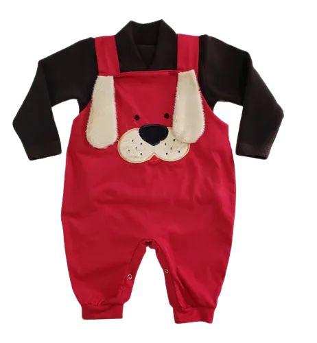 Conj. Bebê 3/6 Meses Jardineira+blusa Menino/menina Ref. 524