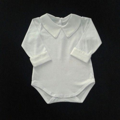 Body Algodão Bebê Menino 0/3 Meses Gola Punho Fustão Ref.268