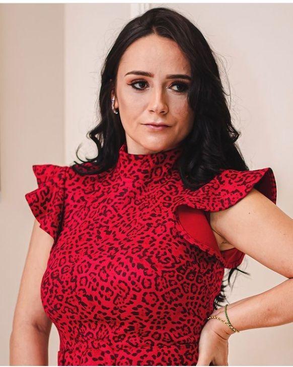 Vestido midi animal Print Vermelho em Suede