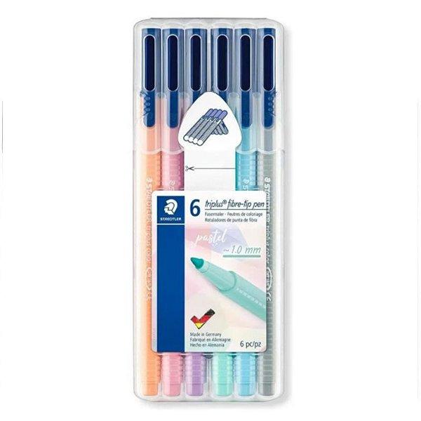MOSTRUÁRIO - Canetas Marca texto Triplus Fibre-tip Pen Pastel - com 6 unidades - Staedtler