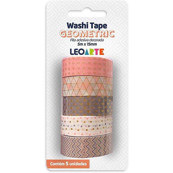 MOSTRUÁRIO - Fita Washi Tape Geometric - c/ 5 unidades - Leonora