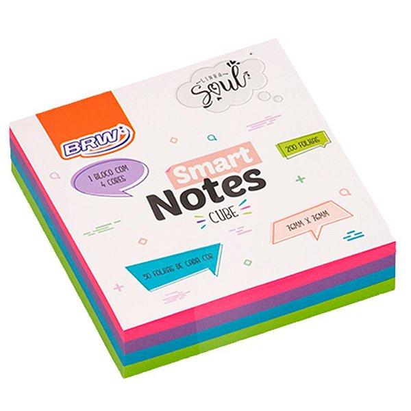 MOSTRUÁRIO - Bloco Adesivo Smart Notes Neon Cube - 200 folhas - unitário - BRW