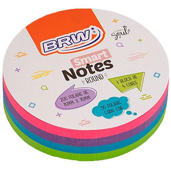 MOSTRUÁRIO - Bloco Adesivo Smart Notes Neon Round - 200 folhas - unitário - BRW