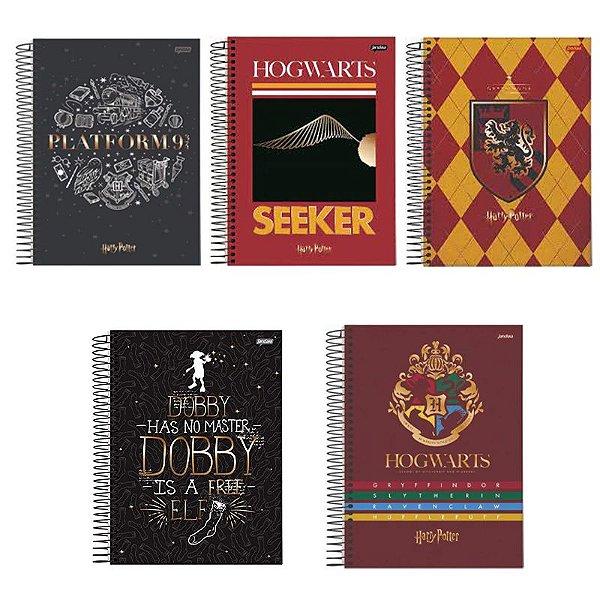 Caderno Espiral 1/4 Harry Potter 96 Folhas - unitário - Jandaia