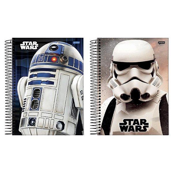 Caderno Universitário Star Wars 80 Folhas - unitário - Jandaia