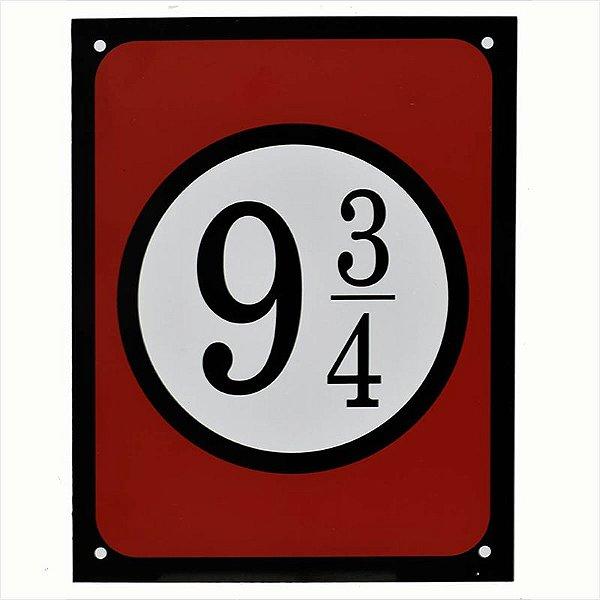 """Placa """"9 3/4"""" - unitário - Sinalize"""