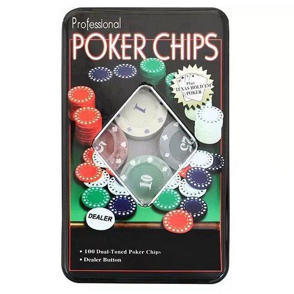 Fichas Poker Chips Jogo com 100 fichas - unitário - Importado