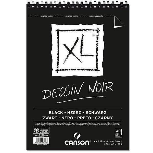 Papel XL Dessin Noir A4 c/ 40 Folhas 150g - unitário - Canson