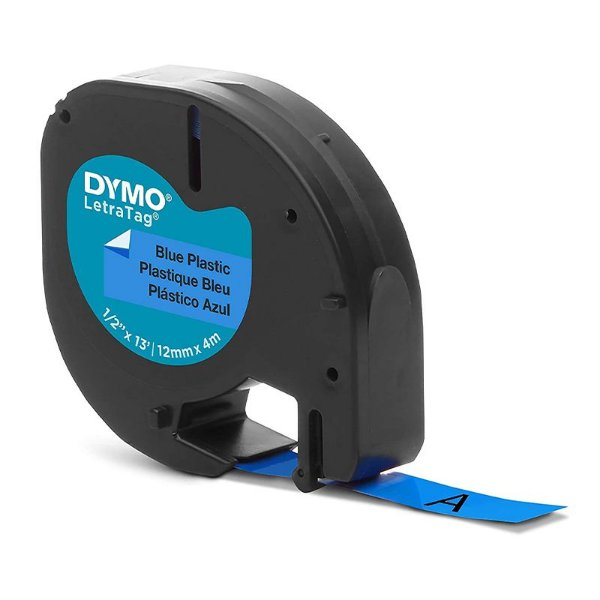 Fita LetraTag Plastic Labels Azul - unitário - DYMO