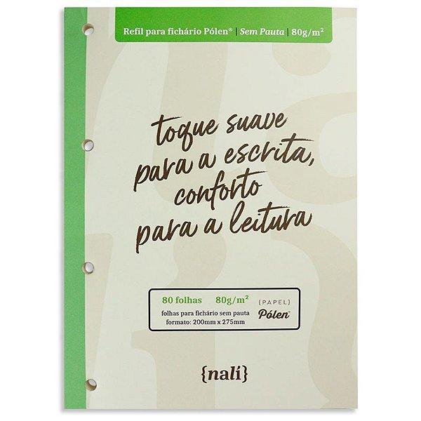 Refil p/ Fichário c/ 80 Folhas A4 Pólen e S/ Pauta - unitário - Nalí