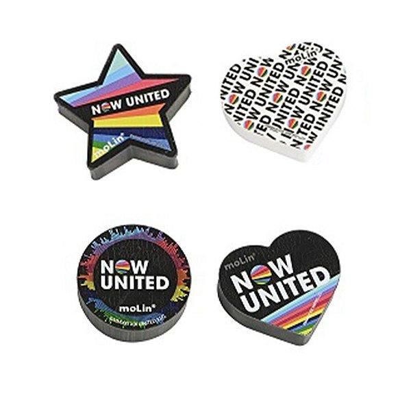 Borracha Now United - unitário - Molin