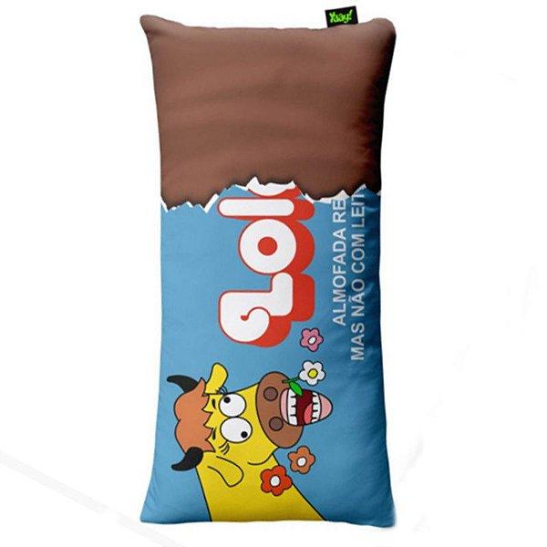"Almofada Chocolate ""Lolol"" - unitário - Yaay!"