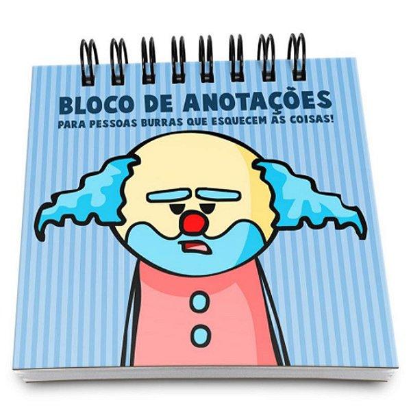 """Bloco de Notas """"Paiaço Dr.Pepper"""" - unitário - Yaay!"""