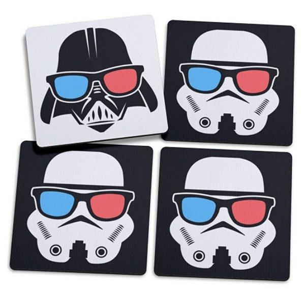 """Jogo de Porta Copos """"Geek Darth Vader"""" - com 4 unidades - Yaay!"""