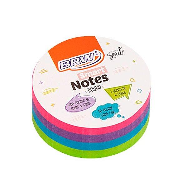 Bloco Adesivo Smart Notes Neon Round Mini - 200 folhas - unitário - BRW