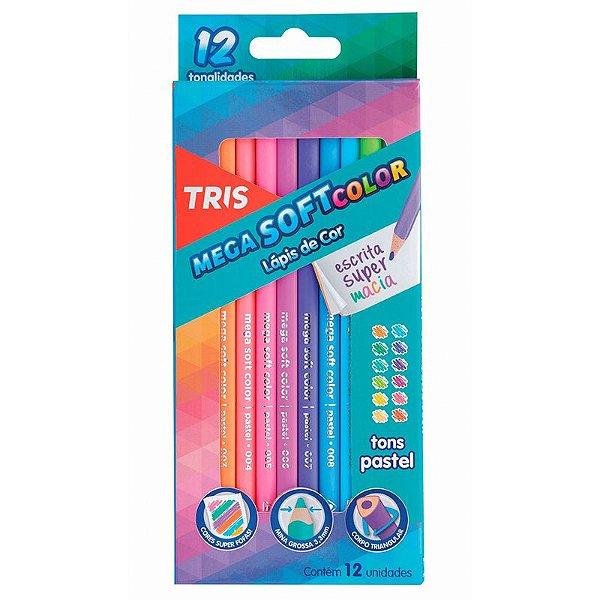 12 Lápis de Cor Mega Soft Tons Pastel - unitário - Tris