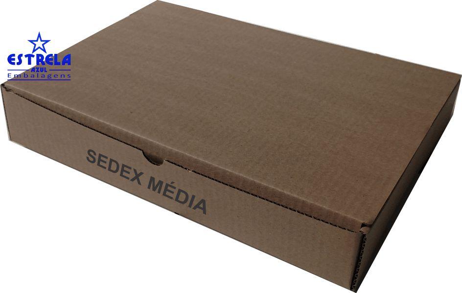 Caixa e-commerce Sedex Média Med. 35x26x6cm - Ref.4